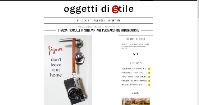 "New interview on ""Oggetti di stile"""
