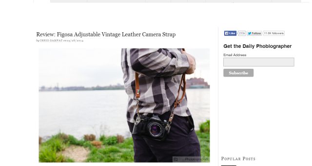 Figosa adjustable strap's review on The Phoblographer!